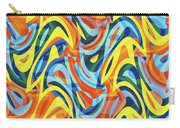 Abstract Waves Painting 007176 Carry-all Pouch