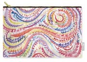 Abstraction In Winter Colors Carry-all Pouch