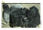 Adult Silverback Gorilla Laying Down With Anguished Expression Carry-all Pouch
