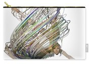 Aerial Hoop Dancing Whirlwind Of Hair Png Carry-all Pouch