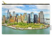 Aerial Panorama Of Downtown New York Skyline Carry-all Pouch