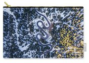 Aerial View Of Winding Mountain Road Through Forest Carry-all Pouch
