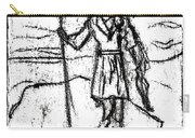 After Billy Childish Black Oil Drawing B2-7 Carry-all Pouch