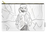 After Billy Childish Girl Pencil Drawing B2-16 Carry-all Pouch