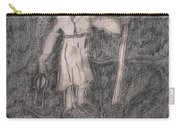 After Billy Childish Pencil Drawing 14 Carry-all Pouch