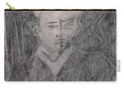 After Billy Childish Pencil Drawing 2 Carry-all Pouch