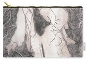 After Billy Childish Pencil Drawing 21 Carry-all Pouch