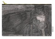 After Billy Childish Pencil Drawing 32 Carry-all Pouch