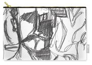 After Billy Childish Pencil Drawing B2-4 Carry-all Pouch