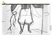 After Billy Childish Pencil Drawing B2-9 Carry-all Pouch