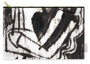 After Mikhail Larionov Black Oil Painting 1 Carry-all Pouch