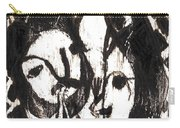 After Mikhail Larionov Black Oil Painting 14 Carry-all Pouch
