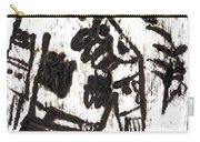 After Mikhail Larionov Black Oil Painting 3 Carry-all Pouch