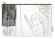 After Mikhail Larionov Pencil Drawing 10 Carry-all Pouch
