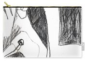 After Mikhail Larionov Pencil Drawing 5 Carry-all Pouch