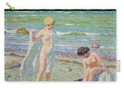 After The Swim  Oil On Canvas Carry-all Pouch