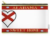 Alabama State License Plate Carry-all Pouch
