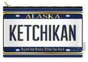 Alaska State License Plate Mockup With The City Ketchikan Carry-all Pouch