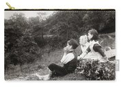Alexander Keighley - Children On A Picnic, Ca 1890 Carry-all Pouch
