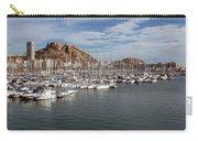 Alicante Marina And The Santa Barbara Castle Carry-all Pouch