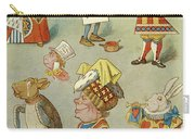 Alice In Wonderland Characters Carry-all Pouch