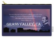 Alonzo Delano Grass Valley Quote Carry-all Pouch