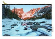 Alpenglow At Dream Lake Rocky Mountain National Park Carry-all Pouch