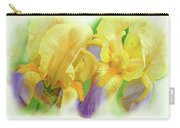 Amenti Yellow Iris Flowers Carry-all Pouch