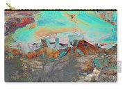 American Indian Home In Abstract Carry-all Pouch