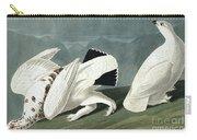 American Ptarmigan, Tetrao Mutus, White Tailed Grous, Tetrao Leucurus Carry-all Pouch