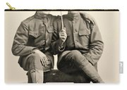 American Soldiers With A Parasol Circa 1915 Carry-all Pouch