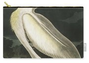 American White Pelican, Pelecanus Erythrorhynchos By Audubon Carry-all Pouch