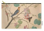 An Orange Headed Ground Thrush And A Moth On A Purple Ebony Orchid Branch, 1778 Carry-all Pouch