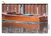 Antique Wooden Boat By Dock 1302 Carry-all Pouch by Rick Veldman