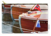 Antique Wooden Boats In A Row Portrait 1301 Carry-all Pouch by Rick Veldman