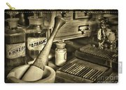 Apothecary-vintage Pill Roller Sepia Carry-all Pouch