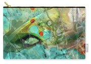 Aqua And Yellow Abstract Art - Juxtaposition - Sharon Cummings Carry-all Pouch
