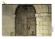 arched door at Fontevraud church Carry-all Pouch