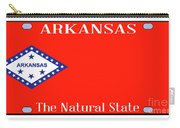 Arkansas State License Plate Carry-all Pouch