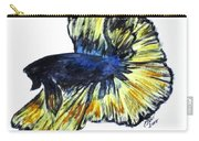 Art Doodle No.34 Betta Fish Carry-all Pouch by Clyde J Kell