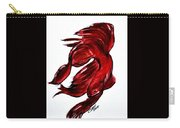 Art Doodle No.36 Betta Fish Carry-all Pouch by Clyde J Kell