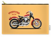 The Vintage Sportster Motorcycle Carry-all Pouch by Mark Rogan