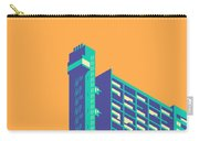Trellick Tower London Brutalist Architecture - Plain Apricot Carry-all Pouch