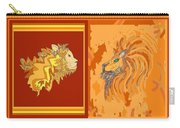 Lion Pair Hot Carry-all Pouch