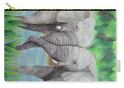Elephant Couple Carry-all Pouch