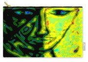 Two Faces - Green - Female Carry-all Pouch