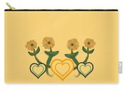 Hearts Bronze Carry-all Pouch