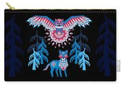 A Northern Folk Winter Woods Midnight Sun Carry-all Pouch
