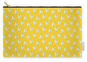 J35 Draken Swedish Air Force Jet Aircraft - Yellow Carry-all Pouch
