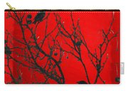 Raven - Black Over Red Carry-all Pouch